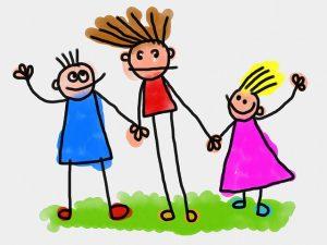 Bild zeigt Kinder als Strichzeichnung